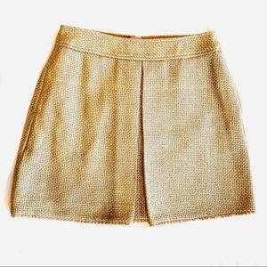 Banana Republic Gold Woven Lined Mini Skirt 8P